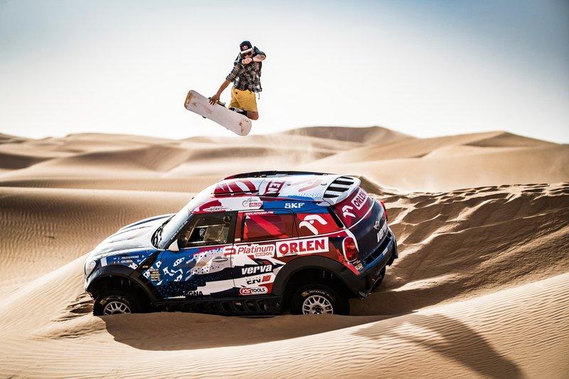 Red Bull Goes Snowboarding in the Dunes of Dakar
