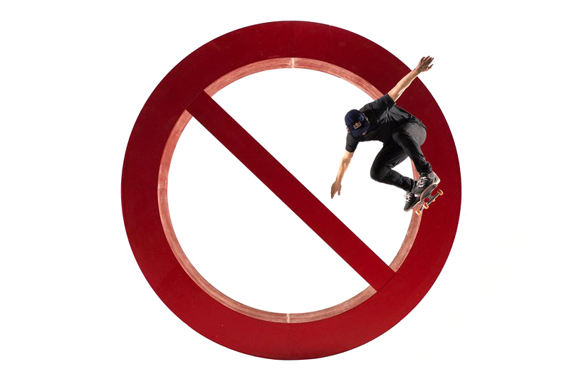 """Redbull Gets Philipp Schuster to Shred a Life-Sized """"No Skateboarding"""" Sign"""