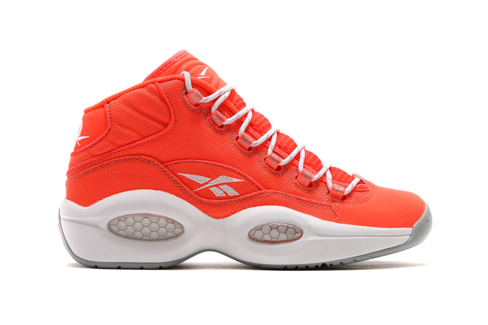 The Atomic Red Reebok Question Mid Sports a Kevlar Upper
