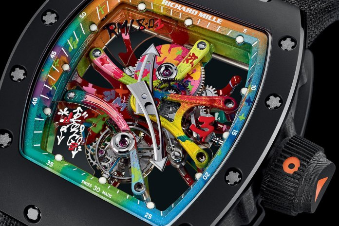 Graffiti Meets Horology in the Kongo x Richard Mille Hand-Painted Tourbillon