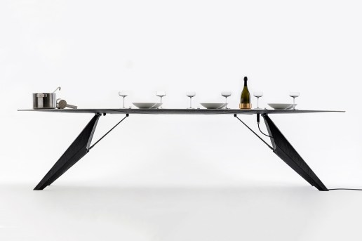 This Smart Dining Table Can Both Charge Your Phone and Boil a Pot of Water