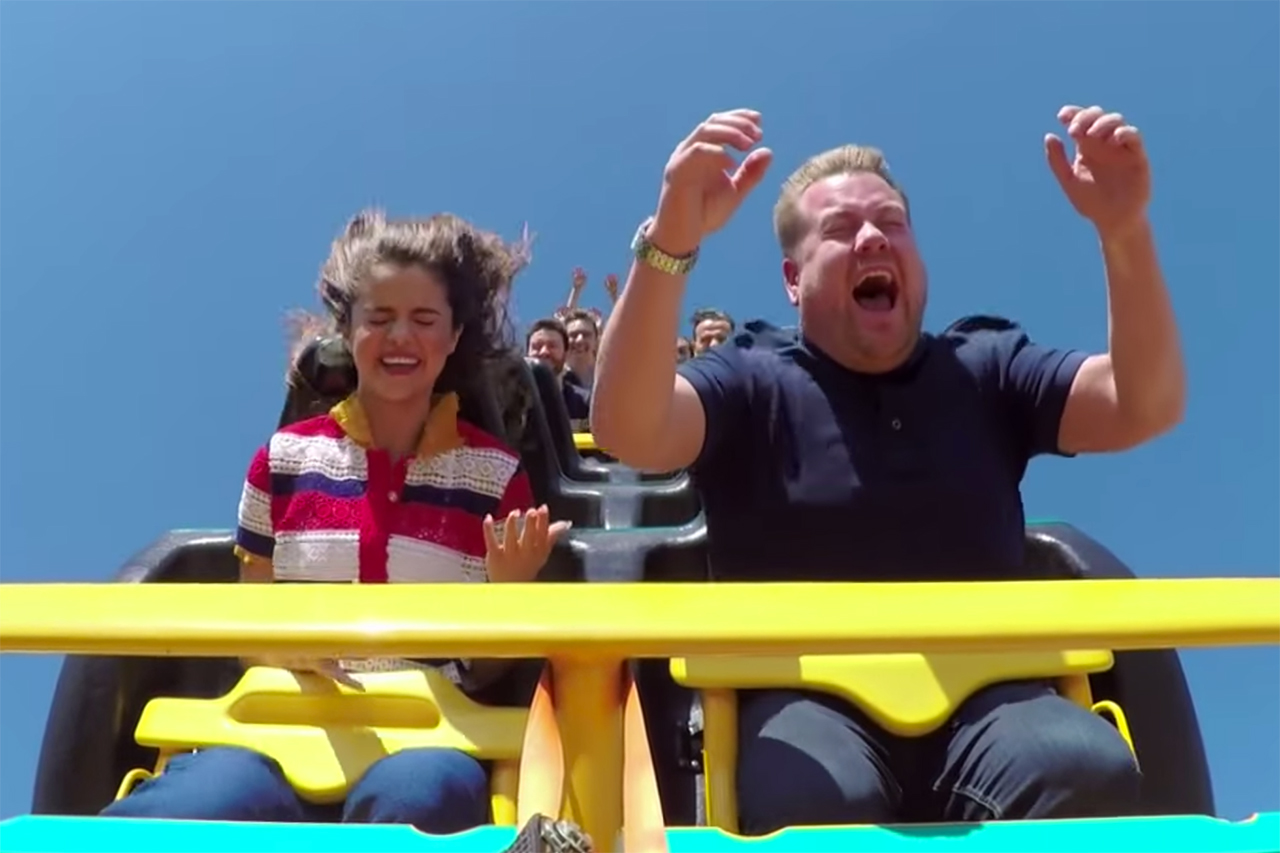 "Selena Gomez & James Corden Drop by Six Flags for ""Carpool Karaoke"""