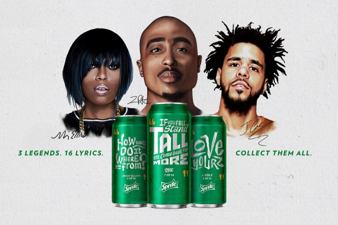 "Sprite Launches Second ""Obey Your Verse"" Campaign With Tupac, Missy Elliott & J. Cole"
