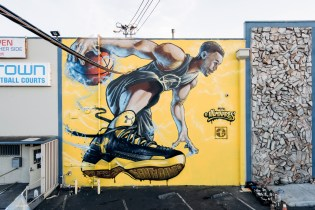 Stephen Curry's Larger-Than-Life Game Now Towers Over an Oakland Freeway in New Mural