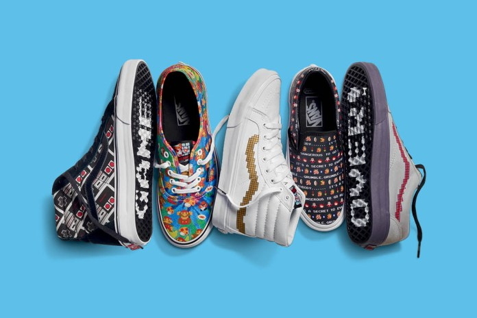 Check out the Full Nintendo x Vans Footwear & Apparel Collection