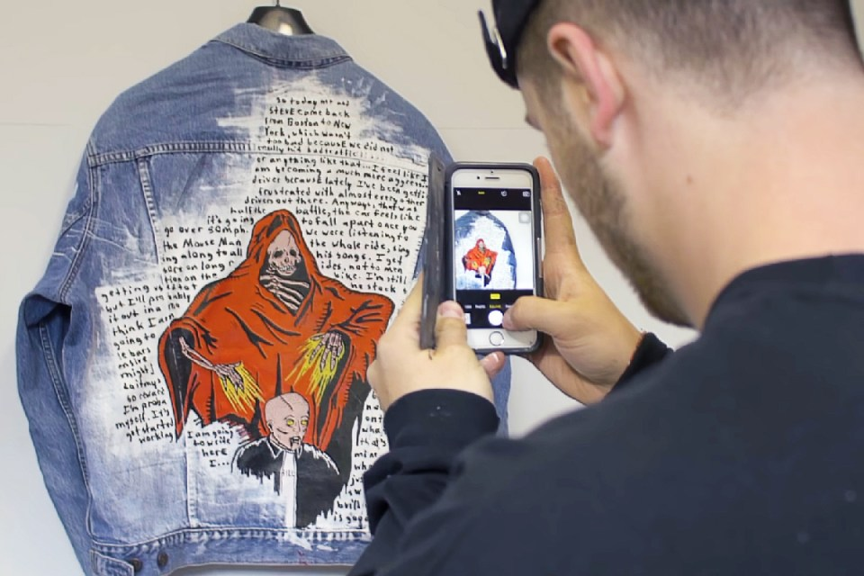 Here's Your Chance to Win a One-of-a-Kind Grim Reaper Jacket Painted by Warren Lotas