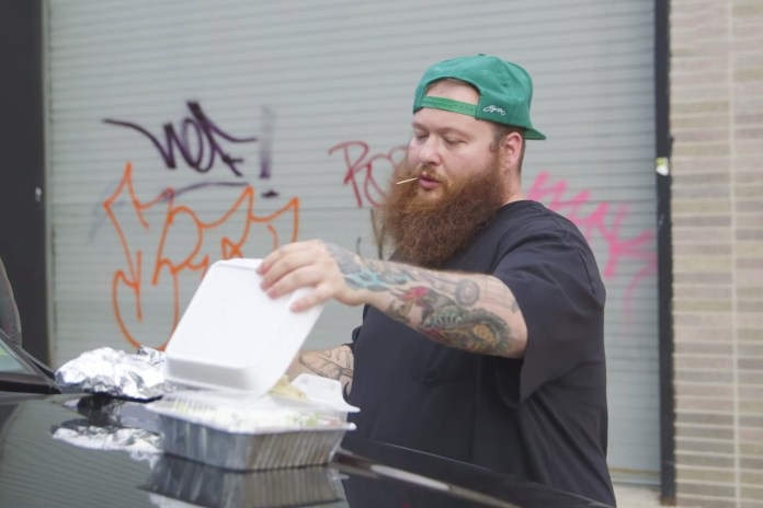 "Watch Action Bronson Make the Ultimate Deep Fried Chicken ""Fat Guy"" Sandwich With Ice Cream"
