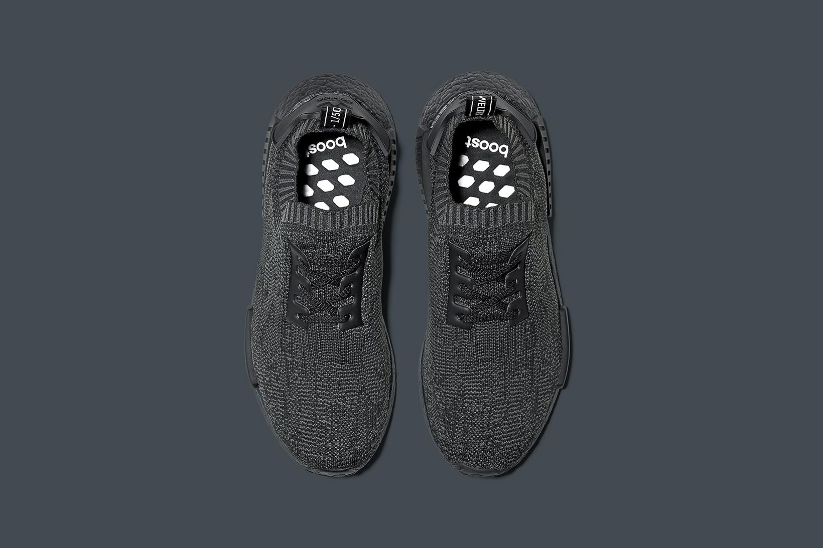 Mens Adidas NMD R1 Black White Gray Size 10 Italia del Vino