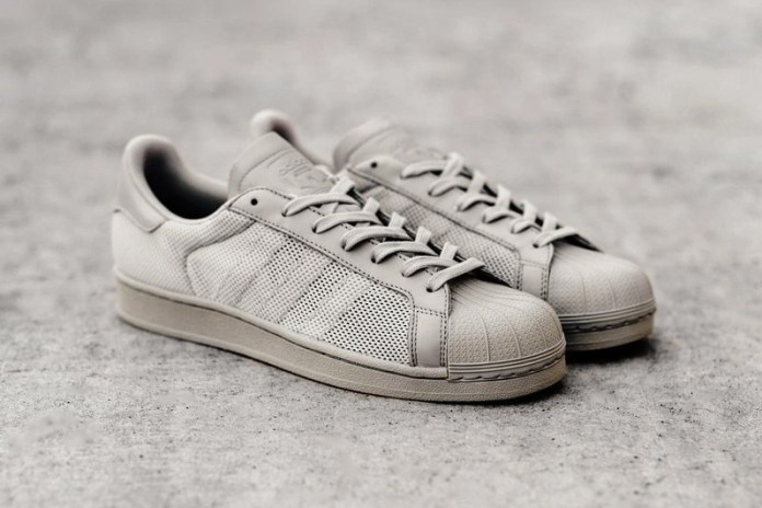 "adidas Unveils the Superstar in a Tonal ""Clear Granite"""