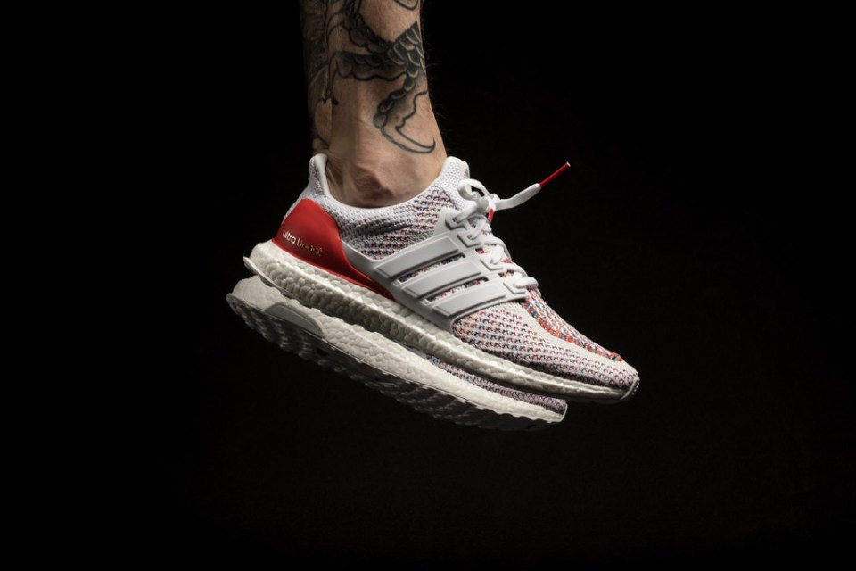 adidas ultra boost multicolor white and red hypebeast. Black Bedroom Furniture Sets. Home Design Ideas