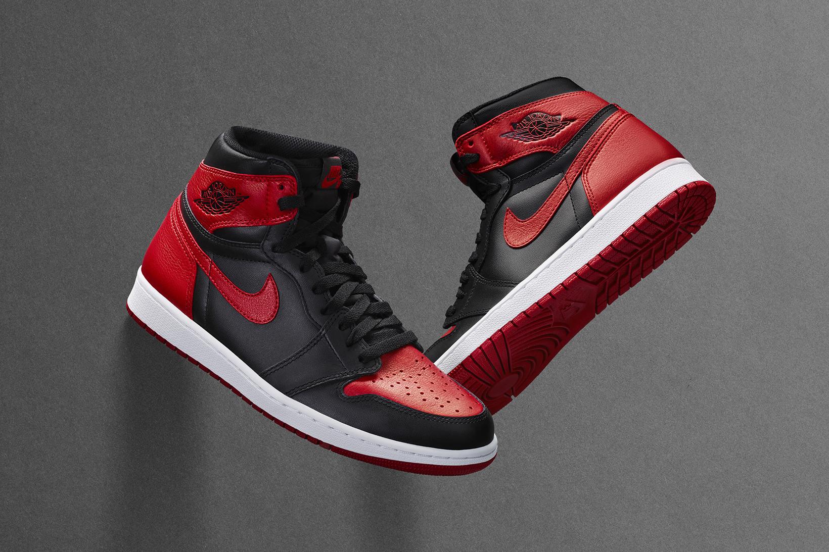 High Cut Air Jordan 1 I Retro Mens Shoes White Black Red