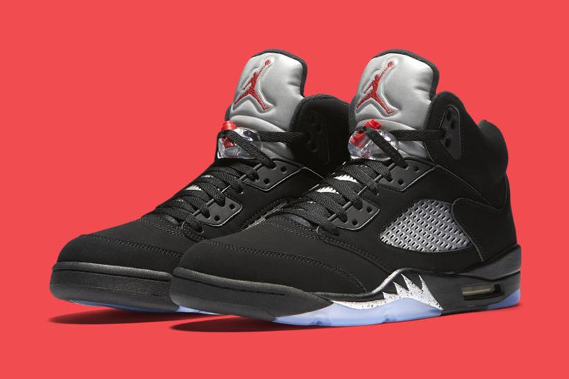 "Jordan Brand Officially Reveals the Air Jordan 5 ""Metallic"" With ""Nike Air"" Branding"