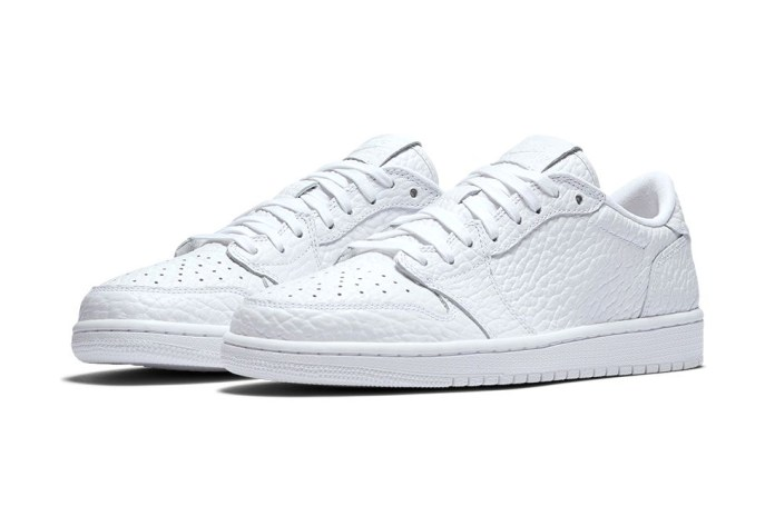 """The Air Jordan 1 """"Swooshless"""" Is Coming Soon in White"""
