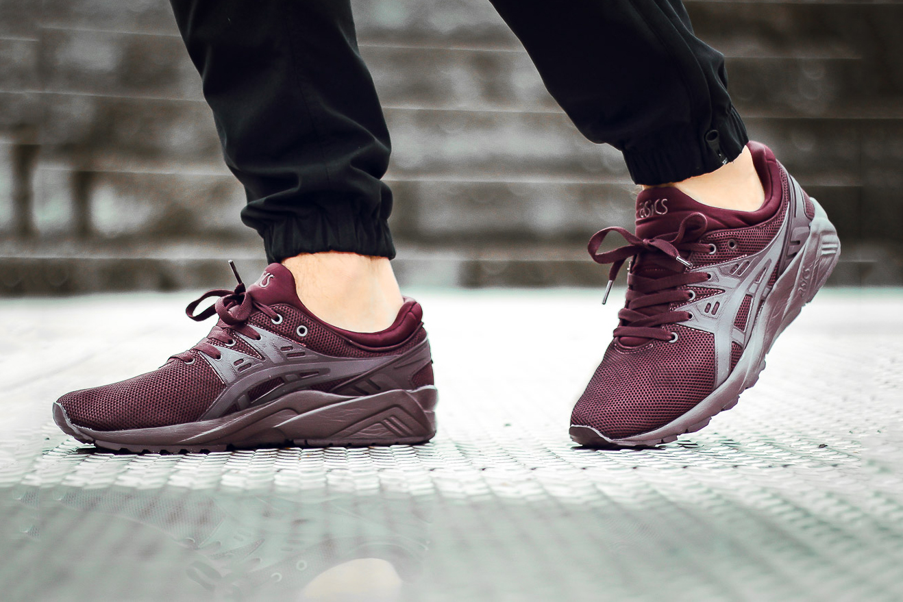 asics gel-kayano trainer evo red