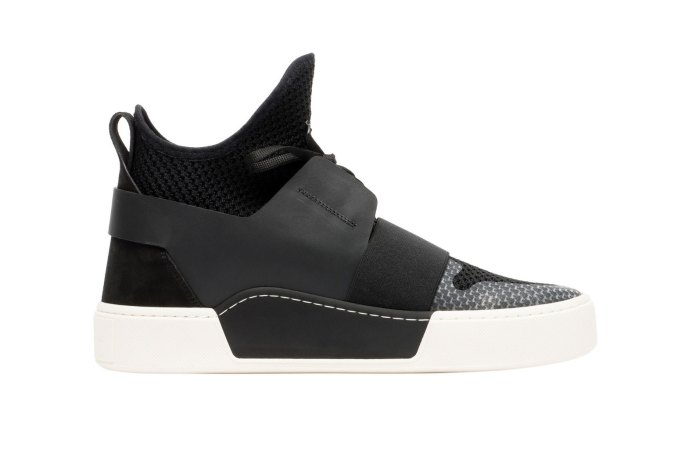Balenciaga Debuts a Black and White High-Top Knitted Mesh Elastic Trainer