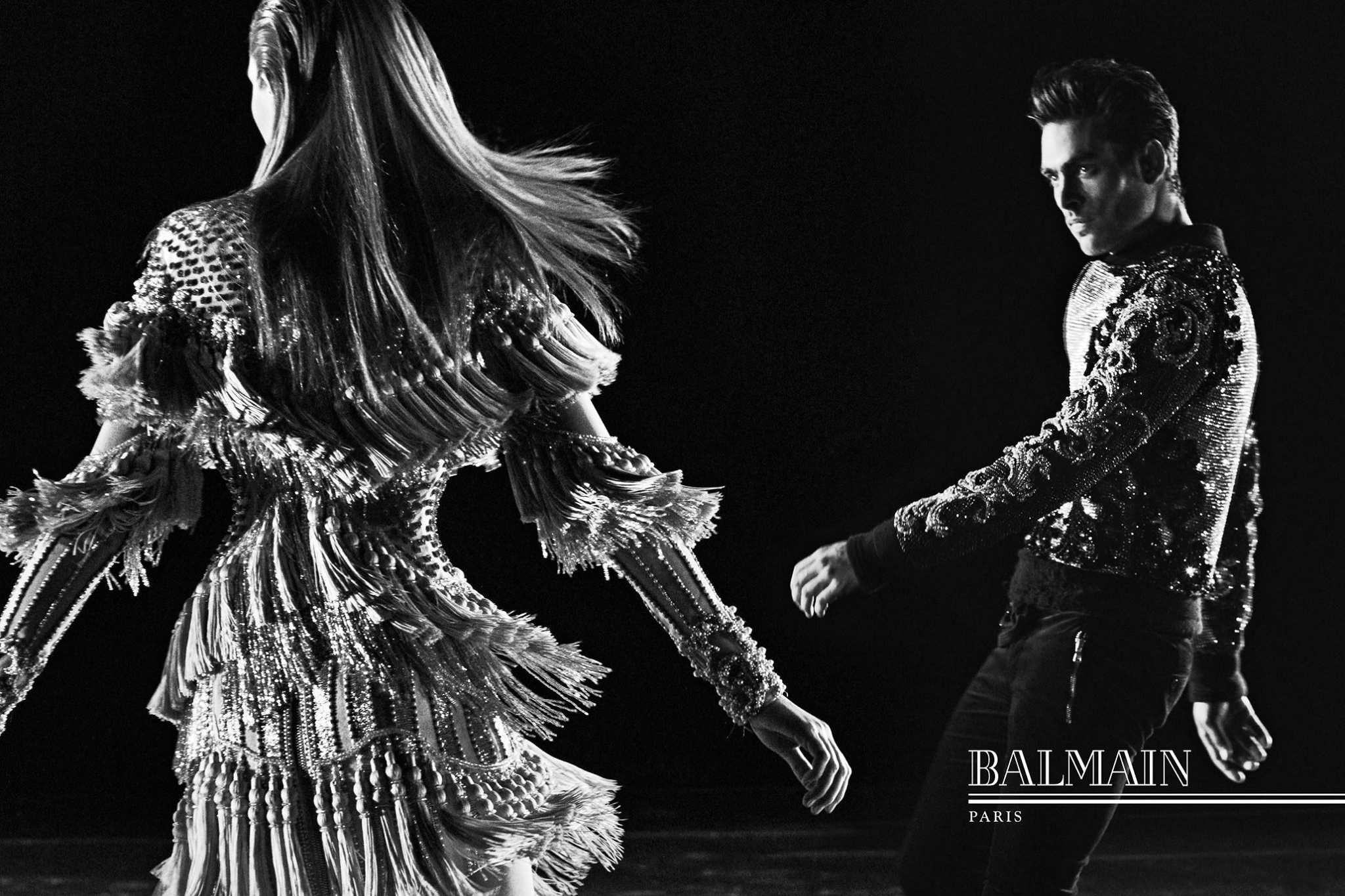 A Crying Kanye West and Kim Kardashian Star in Balmain's 2016 Fall/Winter Campaign