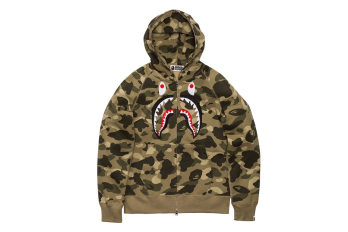 A Bathing Ape Releases New Full-Zip Shark Hoodies