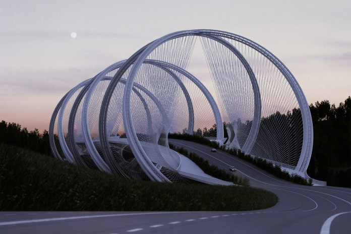Beijing Bridge Inspired by Olympic Rings