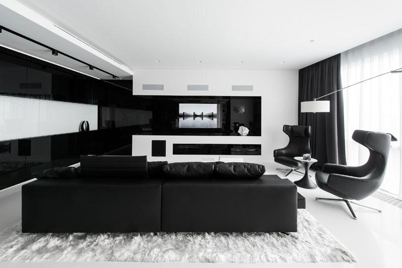Minimalist home decor store - Black And White Interior Apartment Hypebeast