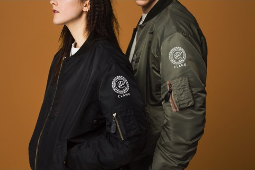 CLANE & fragment design Revisit the Iconic B-15 Flight Jacket