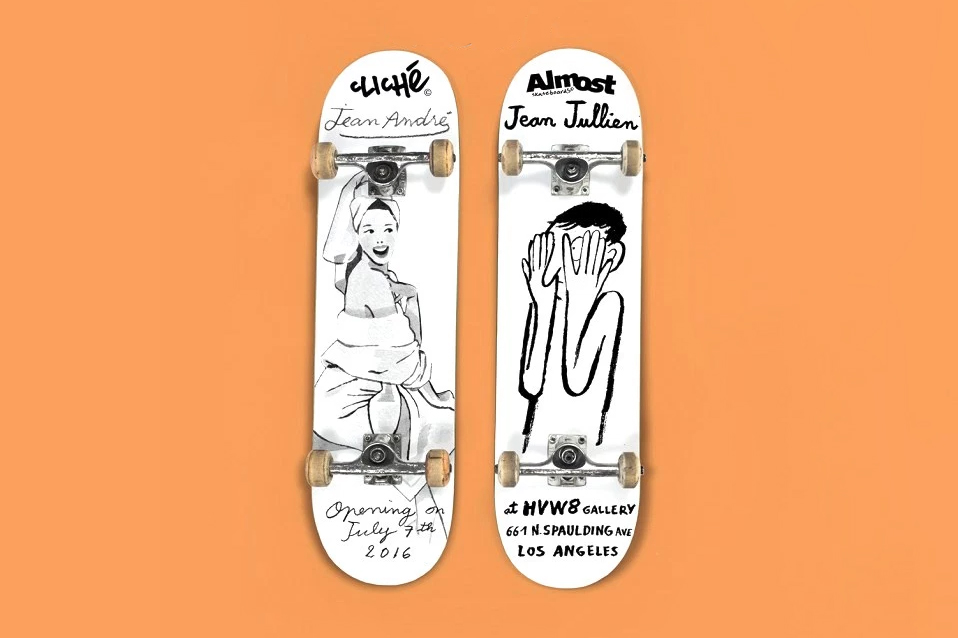 "The ""DUET"" Show in LA Celebrates Art and Skateboarding With Jean Jullien and Jean Andre"