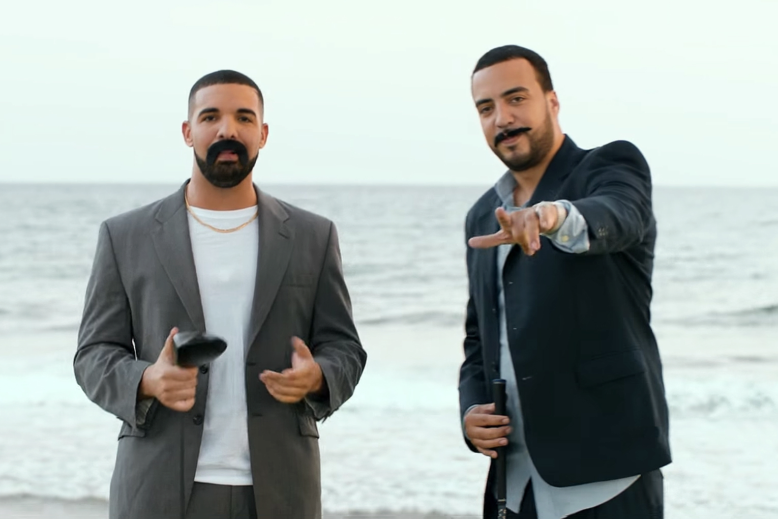 """Watch Drake & French Montana Play Their Latin Alter Egos in the """"No Shopping"""" Music Video"""