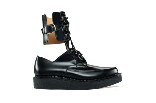 COMME des GARÇONS Homme Plus & George Cox Debut Two Black Leather Creepers