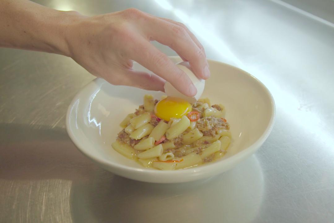 HYPEBEAST Eats: Macaroni Pig's Head & Egg Yoke Pasta by Lyle's