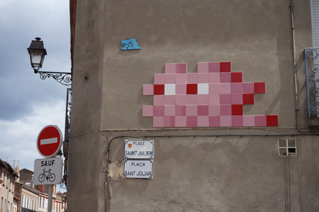 Invader Leaves His Mark on the Streets of Toulouse