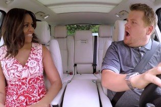 "James Corden Teases Upcoming ""Carpool Karaoke"" With Michelle Obama"