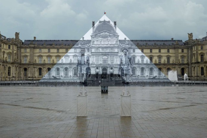 "Artist JR and Liu Bolin Collaborate on ""Hidden"" Louvre Pyramid"