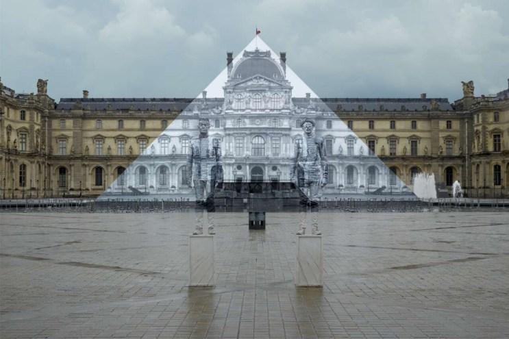 "Artist JR and Liu Bolin Collaborate on ""Hidden"" Louvre Pyramid"