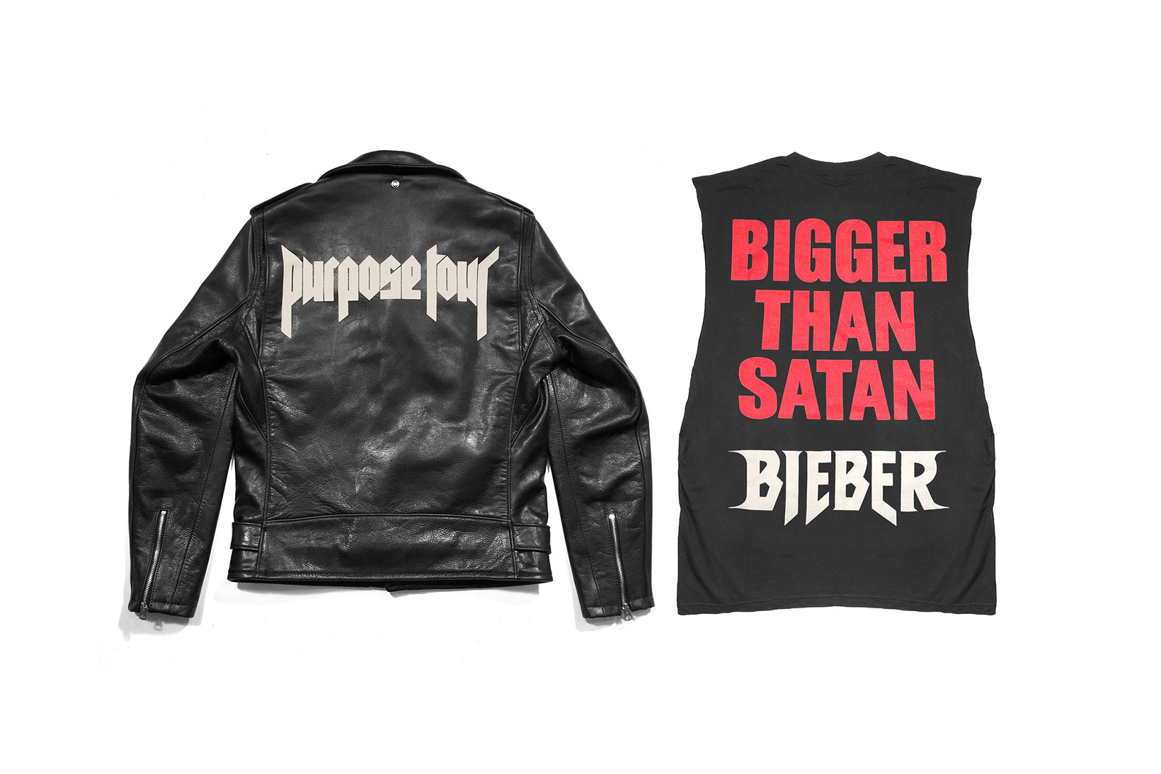 Justin Bieber Ups His Merch Game With a $1,675 USD 'Purpose' Leather Jacket