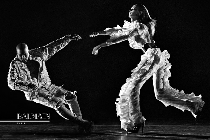 Kanye West Stars in Balmain's New Campaign With Joan Smalls