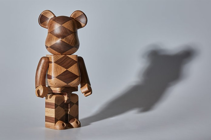 "Karimoku x Medicom Toy BE@RBRICK Gets the ""Woven Wood"" Treatment"
