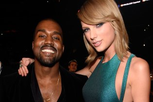 "Kim Kardashian Posts Snapchat of Kanye West Getting Taylor Swift's Approval for ""Famous"""