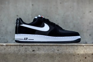 Nike Air Force 1 Drops in a Black and White Mesh/Suede Combination