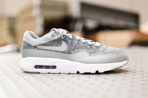 Nike's Air Max 1 Ultra Flyknit Gets Revamped in Wolf Grey