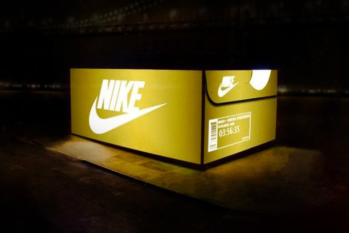 Nike's Giant SNKRS Box Pops-Up in San Francisco