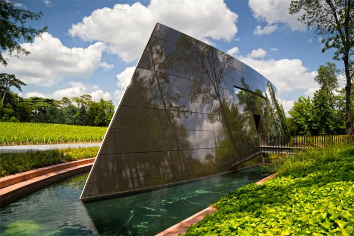 Phillipe Starck's Blade-Shaped Wine Cellar Is an 'Extension of Nature's Intelligence'