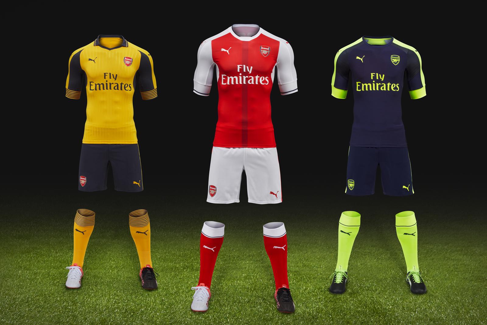 PUMA Debuts Arsenal's New Away and Third Kits for the Upcoming Season