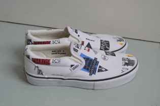 These Ultra-Rare Raf Simons x colette meets x COMME des GARÇONS x Vans Slip-Ons Are up for Grabs