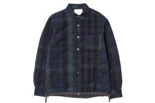 sacai Releases the Garment Washed Quilted Drawcord Shirt in Two Versatile Colorways