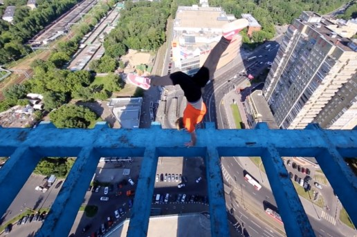 Watch This Daredevil Perform Some Terrifying Rooftop Stunts in Hong Kong and Russia