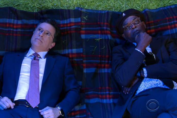 Stephen Colbert and Samuel L. Jackson Ponder Their Purpose and Life's Biggest Questions