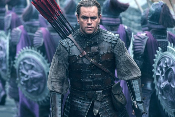 Long Haired Matt Damon Battles Mystical Monsters in 'The Great Wall'
