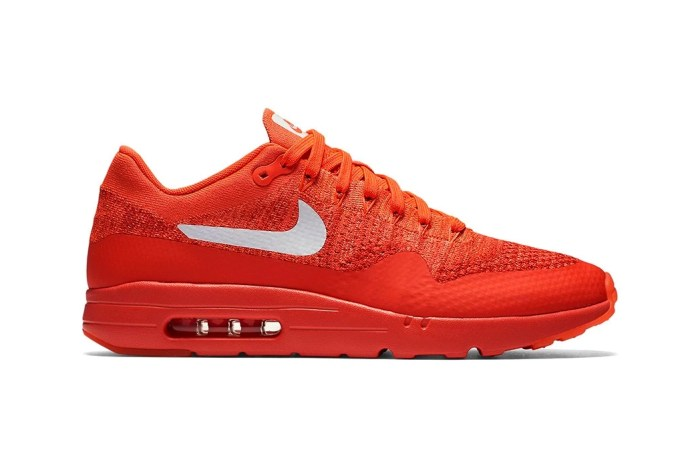 "The Nike Air Max 1 Ultra Flyknit ""Bright Crimson"" Is an Easy Pick for This Summer"