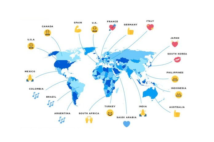 Twitter Puts Together a World Emoji Map