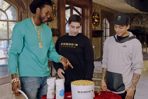 2 Chainz and Pro Skater Nyjah Huston Indulge In Gold-Coated Popcorn on 'Most Expensivest S**t'