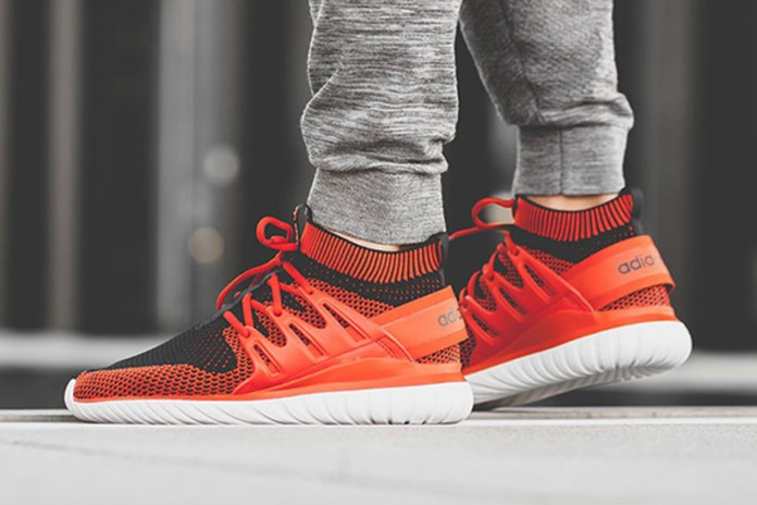 "adidas's Tubular Nova Primeknit Gets a Hot New ""Chili"" Makeover"